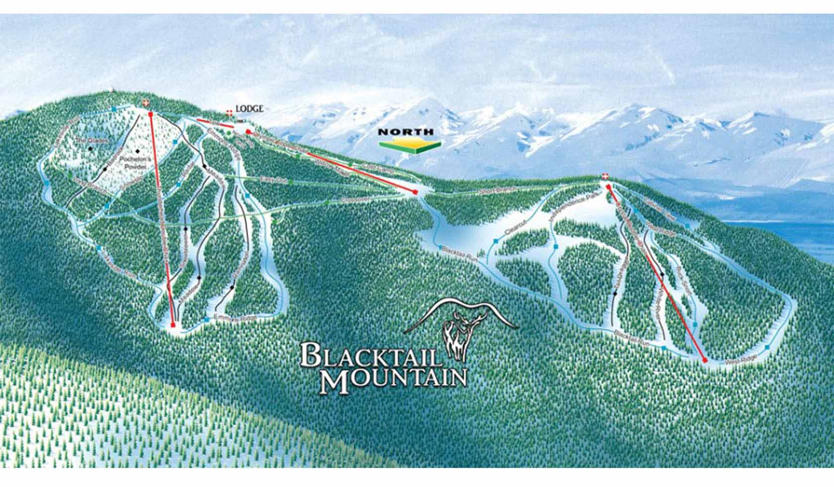Blacktail Mountain Ski Area - Us map of ski resorts